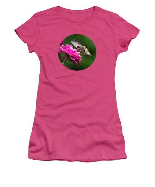 Simple Pleasure Hummingbird Delight Women's T-Shirt (Junior Cut) by Christina Rollo