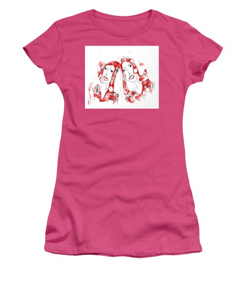 Sisters Women's T-Shirt (Junior Cut) by Sladjana Lazarevic