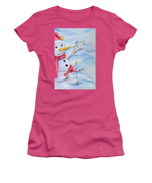 Snowmen Women's T-Shirt (Athletic Fit)