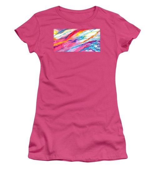 Soul Escaping Women's T-Shirt (Junior Cut) by Expressionistart studio Priscilla Batzell