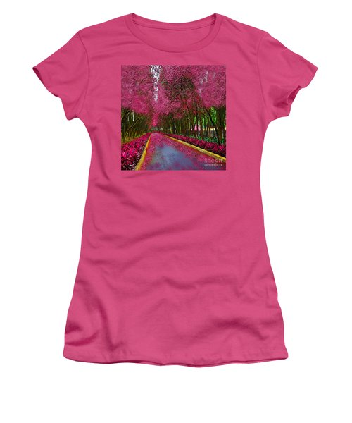Spring Cherry Blossoms Women's T-Shirt (Junior Cut) by Saundra Myles