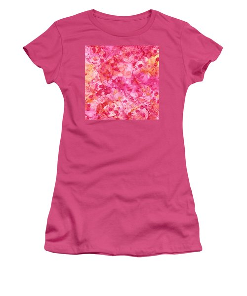 Spring Rose Abstract Women's T-Shirt (Junior Cut) by Patricia Lintner