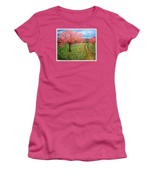 The Enchanted Fairy Garden Meadow Women's T-Shirt (Junior Cut) by Kimberlee Baxter