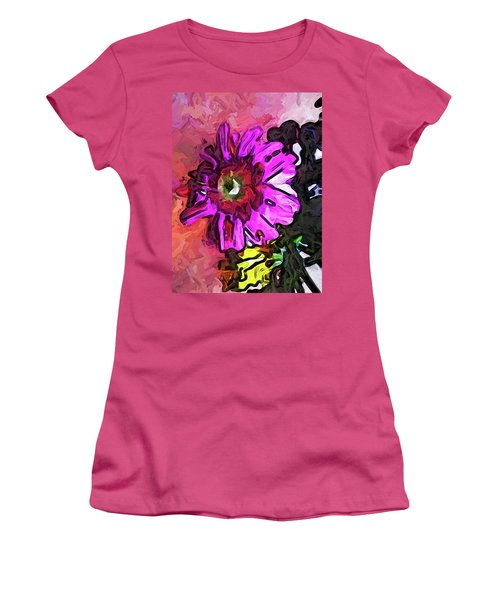 The Lavender Flower Above The Yellow Flower Women's T-Shirt (Athletic Fit)
