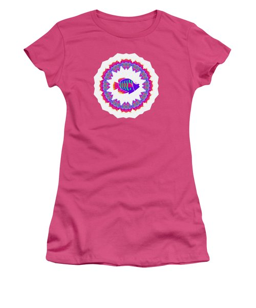 Tropical Fish Kaleidoscope By Kaye Menner Women's T-Shirt (Athletic Fit)