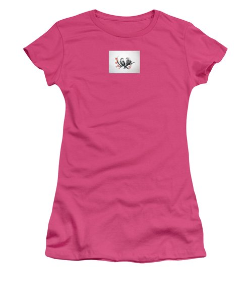 Two Birds Women's T-Shirt (Athletic Fit)