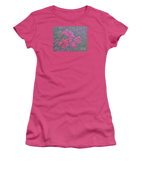 Two Layer Bougainvillea Women's T-Shirt (Athletic Fit)