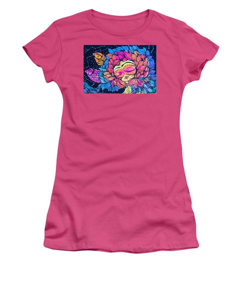 Women's T-Shirt (Junior Cut) featuring the photograph Wall Flowers by Colleen Kammerer