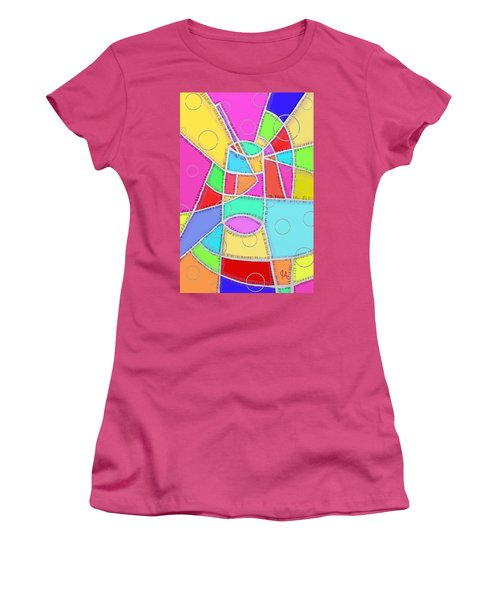 Water Glass Of Light And Color Women's T-Shirt (Junior Cut) by Jeremy Aiyadurai