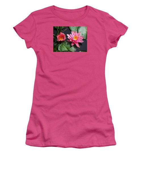 Water Lilies Women's T-Shirt (Junior Cut) by Joy Nichols