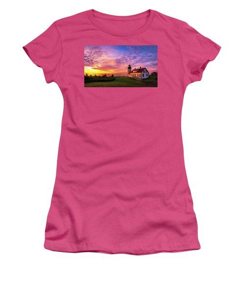 West Quoddy Head Light Women's T-Shirt (Junior Cut) by Robert Clifford