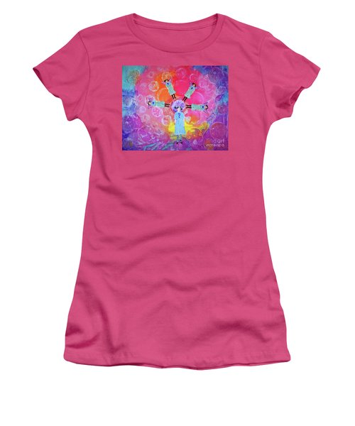 Women's T-Shirt (Junior Cut) featuring the mixed media What To Do by Desiree Paquette