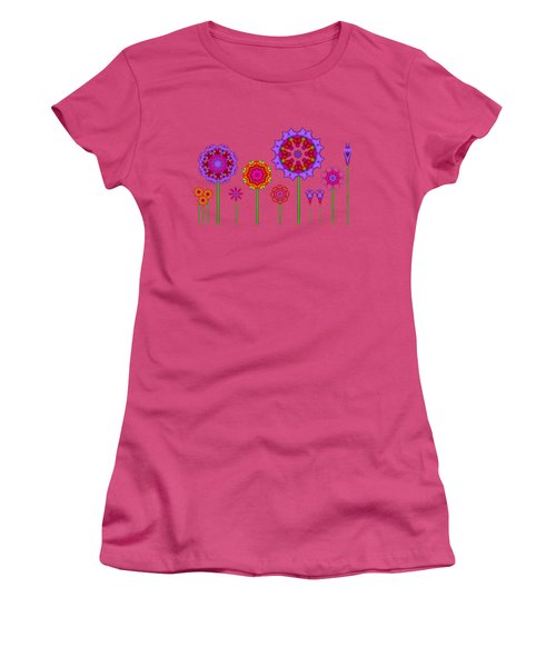 Whimsical Fractal Flower Garden Women's T-Shirt (Athletic Fit)