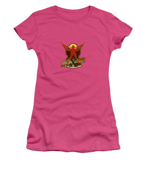 Winged Woman Initial X Women's T-Shirt (Athletic Fit)