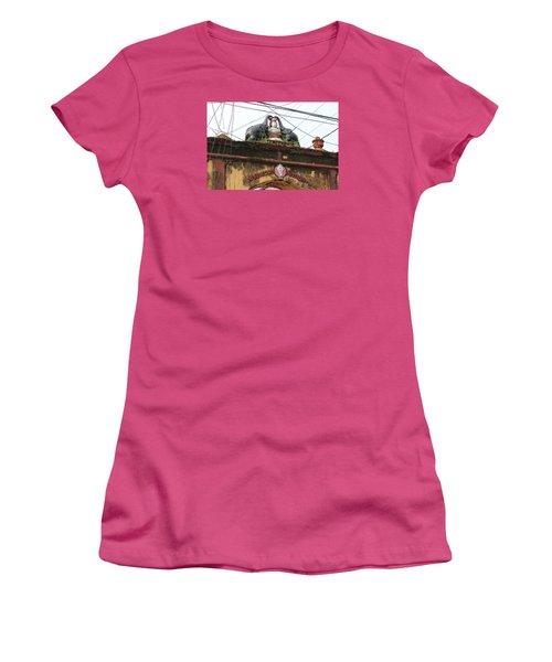 Wires And Lakshmi At Devi Temple, Kochi Women's T-Shirt (Junior Cut) by Jennifer Mazzucco