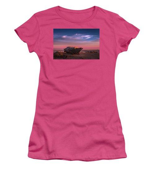 Wooden Boat Women's T-Shirt (Junior Cut) by Ralph Vazquez