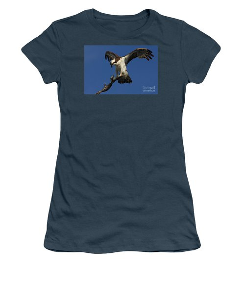 Women's T-Shirt (Junior Cut) featuring the photograph Osprey With A Fish Photo by Meg Rousher