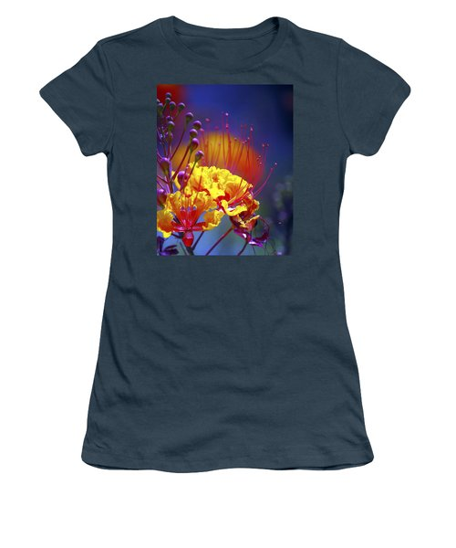 Red Yellow Blossoms 10197 Women's T-Shirt (Junior Cut) by Jerry Sodorff