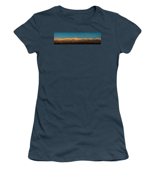 The Presidential Range White Mountains New Hampshire Women's T-Shirt (Junior Cut) by Brenda Jacobs