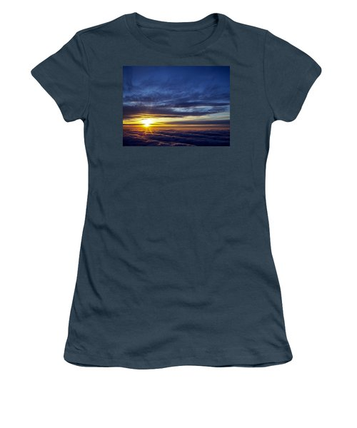 Women's T-Shirt (Junior Cut) featuring the photograph Winter Dawn Over New England by Greg Reed