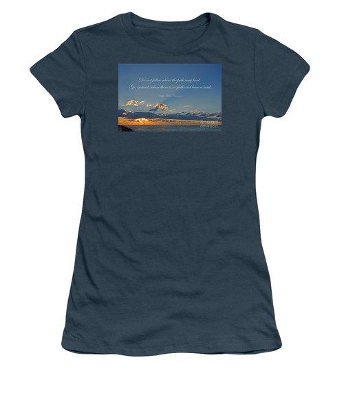 149- Ralph Waldo Emerson Women's T-Shirt (Junior Cut) by Joseph Keane