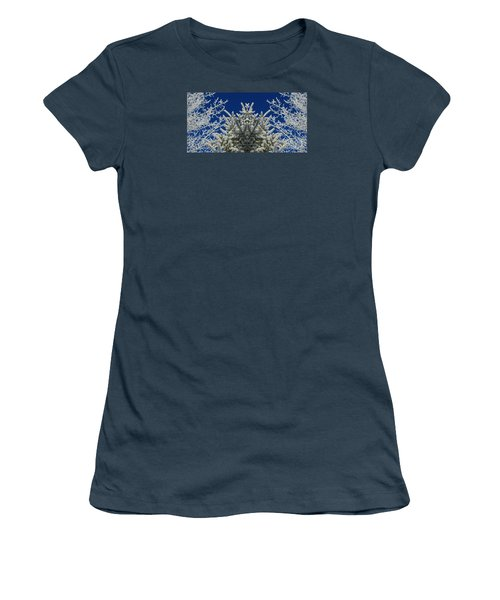 Women's T-Shirt (Junior Cut) featuring the photograph Frosty by Janice Westerberg