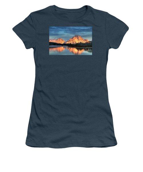 Mount Moran Women's T-Shirt (Junior Cut) by Steve Stuller