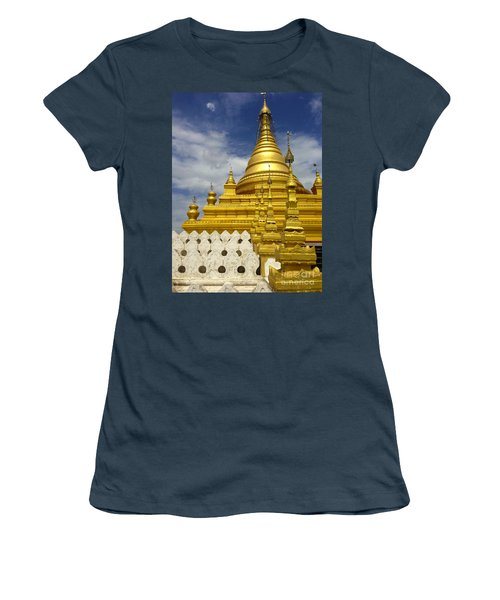 Women's T-Shirt (Junior Cut) featuring the photograph Sandamuni Pagoda Mandalay Burma by Ralph A  Ledergerber-Photography