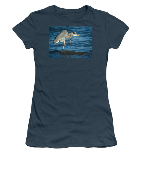 Great Blue Heron Women's T-Shirt (Junior Cut) by Jane Luxton