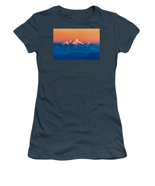 Himalayan Mountains View From Mt. Shivapuri Women's T-Shirt (Junior Cut) by Ulrich Schade