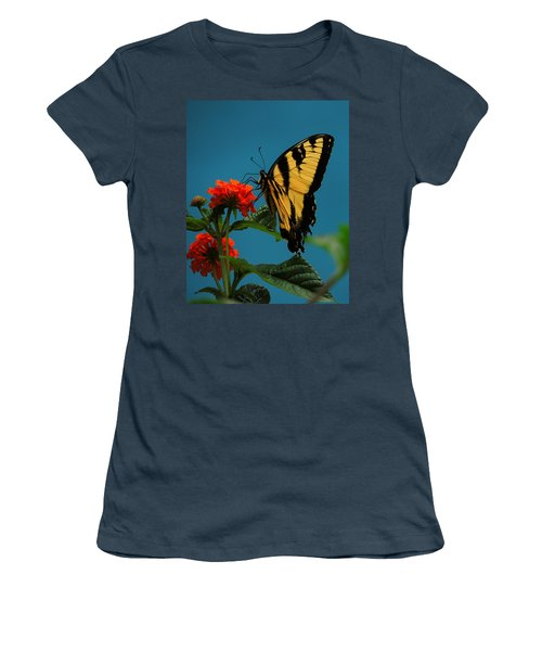 Women's T-Shirt (Junior Cut) featuring the photograph A Butterfly by Raymond Salani III