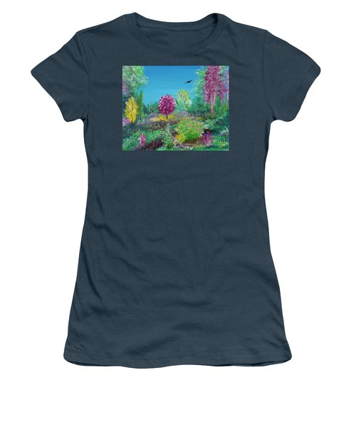 A Corner Of Heaven In Rural Indiana Women's T-Shirt (Junior Cut) by Alys Caviness-Gober