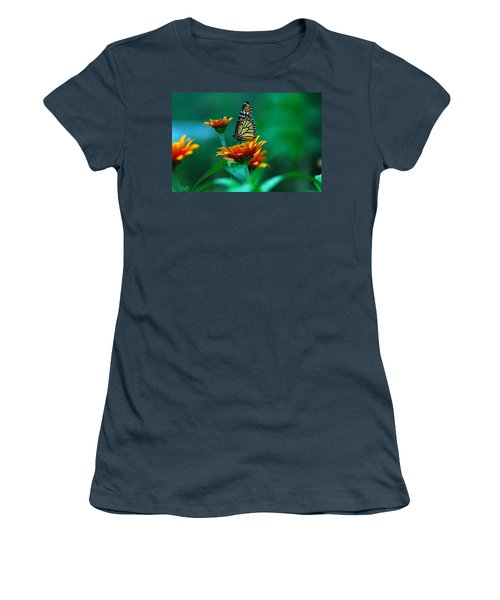 Women's T-Shirt (Junior Cut) featuring the photograph A Monarch by Raymond Salani III