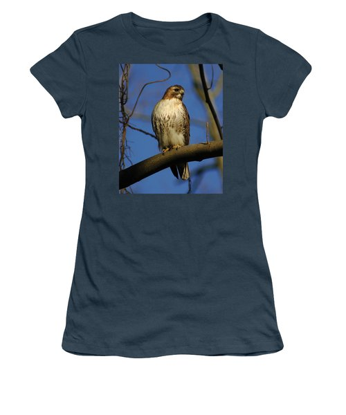 Women's T-Shirt (Junior Cut) featuring the photograph A Red Tail Hawk by Raymond Salani III
