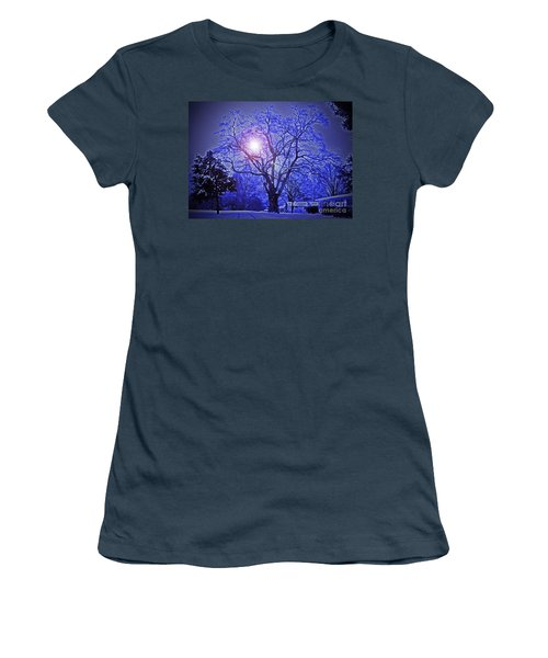 A Snow Glow Evening Women's T-Shirt (Junior Cut) by Lydia Holly