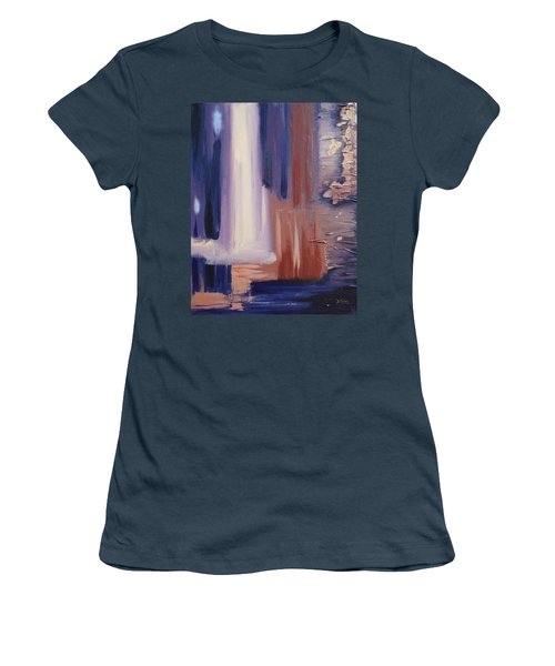 Women's T-Shirt (Junior Cut) featuring the painting Abstract I by Donna Tuten