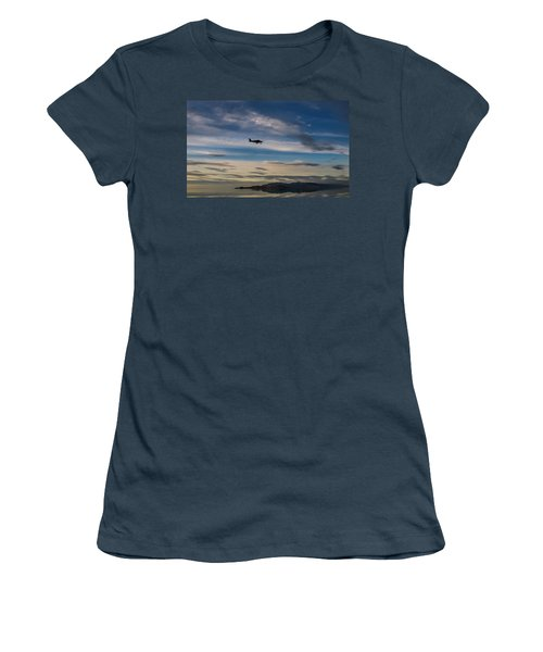 Women's T-Shirt (Junior Cut) featuring the photograph Antelope Island - Lone Airplane by Ely Arsha