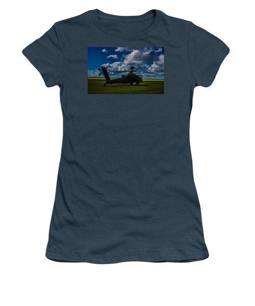 Apache Gun Ship Women's T-Shirt (Junior Cut) by Martin Newman