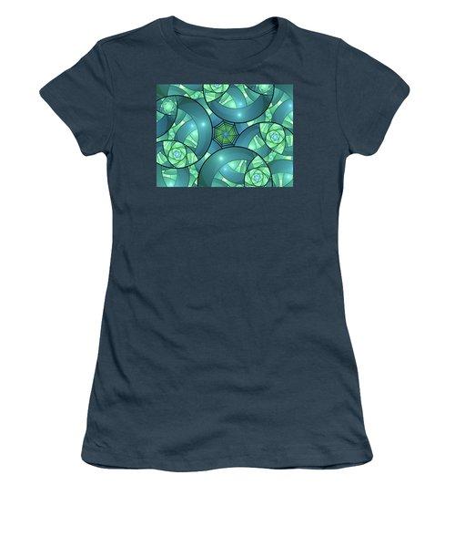 Women's T-Shirt (Junior Cut) featuring the digital art Art Deco by Gabiw Art