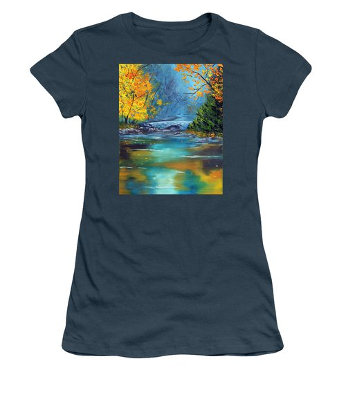 Women's T-Shirt (Junior Cut) featuring the painting Assurance by Meaghan Troup