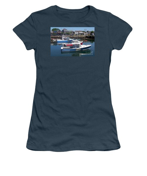 Women's T-Shirt (Junior Cut) featuring the photograph Colorful Boats by Eunice Miller