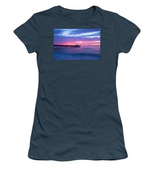Myrtle Beach State Park Pier Sunrise Women's T-Shirt (Junior Cut) by Vizual Studio