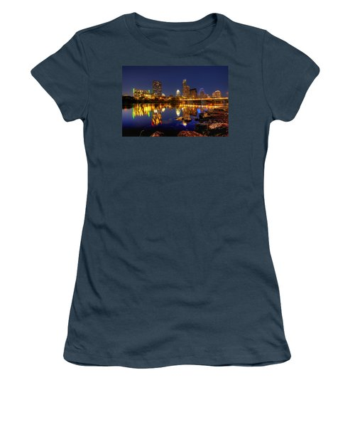 Austin On The Rocks Women's T-Shirt (Junior Cut) by Dave Files