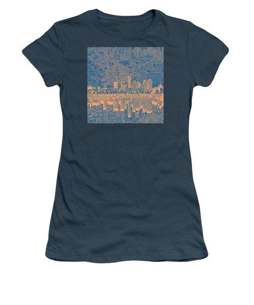Austin Texas Skyline 2 Women's T-Shirt (Junior Cut) by Bekim Art