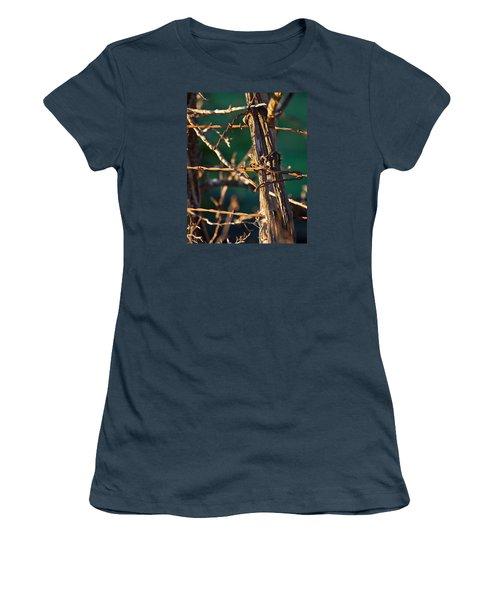 Don't Fence Me In Women's T-Shirt (Junior Cut) by Mark Alder
