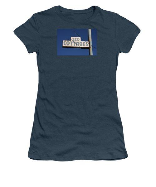 Beach Cottages Women's T-Shirt (Junior Cut) by Art Block Collections