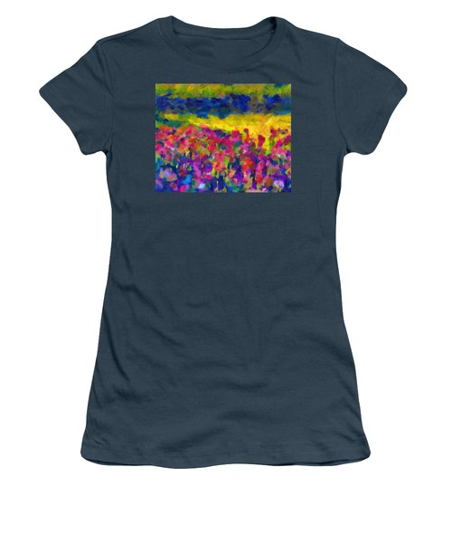 Women's T-Shirt (Junior Cut) featuring the painting Beyond A Simple Love by Joe Misrasi