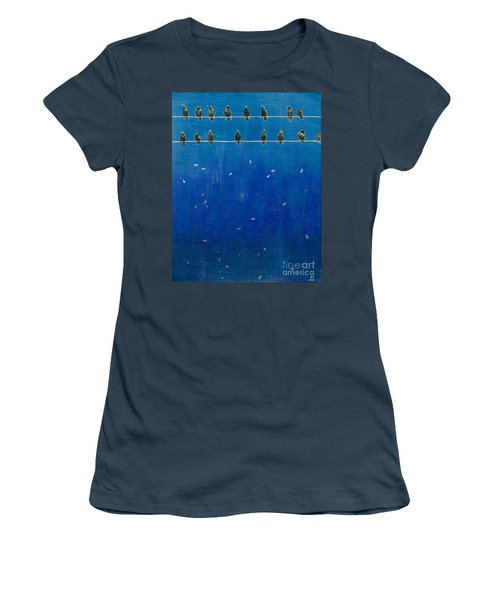 Birds And Fish Women's T-Shirt (Junior Cut)