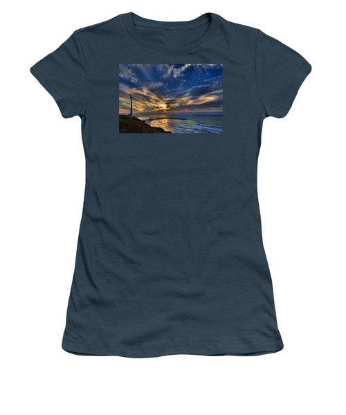 Women's T-Shirt (Junior Cut) featuring the photograph Birdy Bird At Hilton Beach by Ron Shoshani