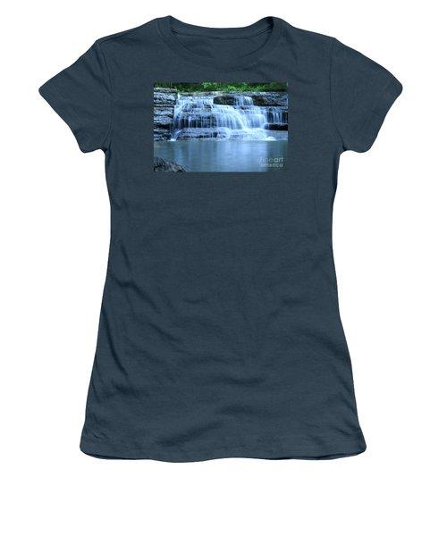 Blue Falls Women's T-Shirt (Junior Cut) by Melissa Petrey
